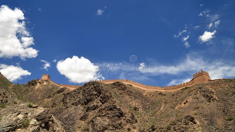Great Wall of China during Daytime stock images