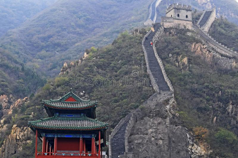 Great Wall of China. The Great Wall of China is a series of fortifications made of stone, brick, tamped earth, wood, and other materials, generally built along royalty free stock photos
