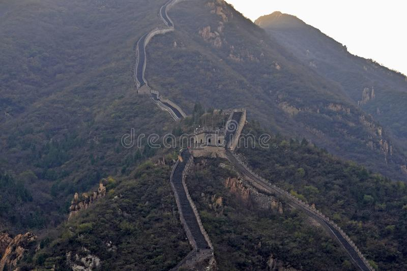 Great Wall of China. The Great Wall of China is a series of fortifications made of stone, brick, tamped earth, wood, and other materials, generally built along stock images