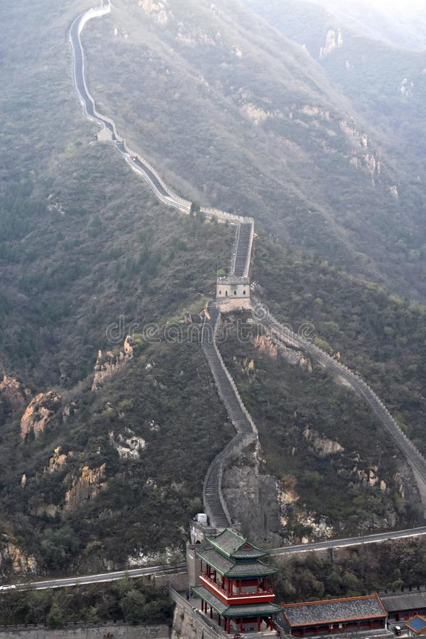 Great Wall of China. The Great Wall of China is a series of fortifications made of stone, brick, tamped earth, wood, and other materials, generally built along stock photography