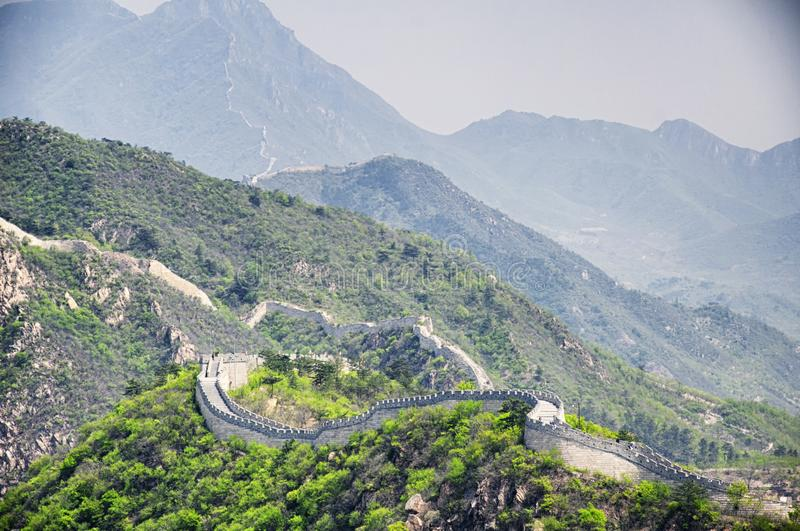 Great Wall of China huanghua cheng west beijing royalty free stock photos