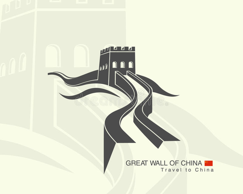 Great wall of China stock illustration