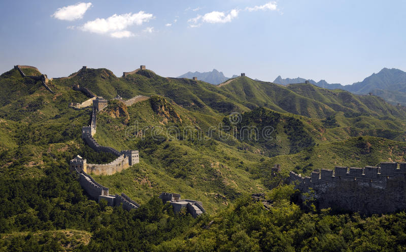 The Great Wall of China at Jinshanling royalty free stock images