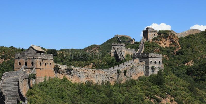 The Great Wall of China Jinshanling. The Great Wall of China at Jinshanling royalty free stock photos