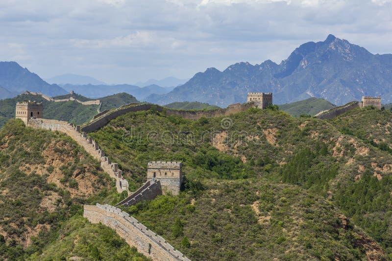 Great Wall of China JinShanLing stock photography