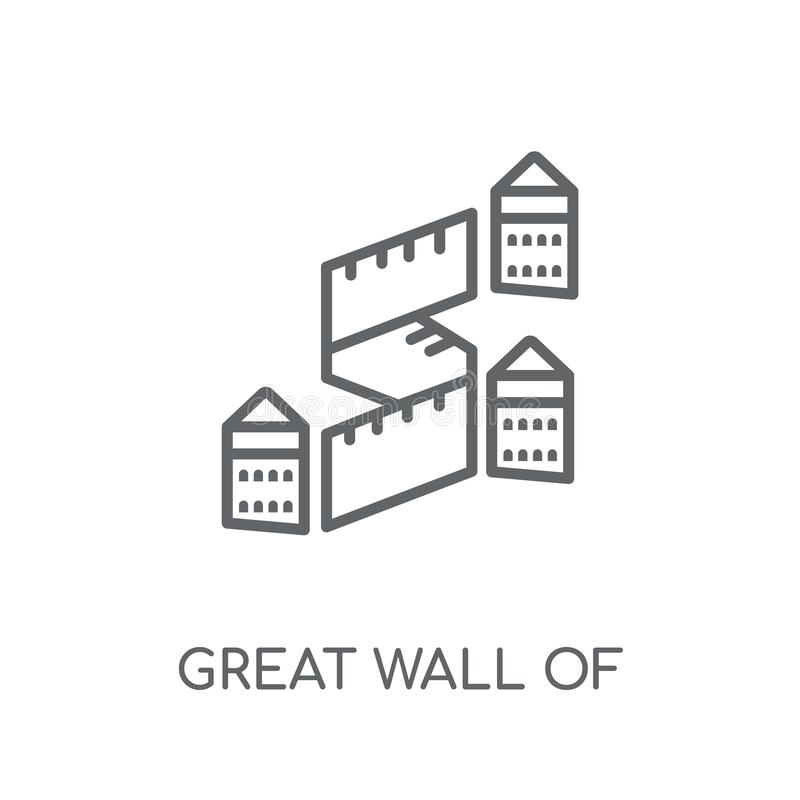Great wall of china linear icon. Modern outline Great wall of ch royalty free illustration