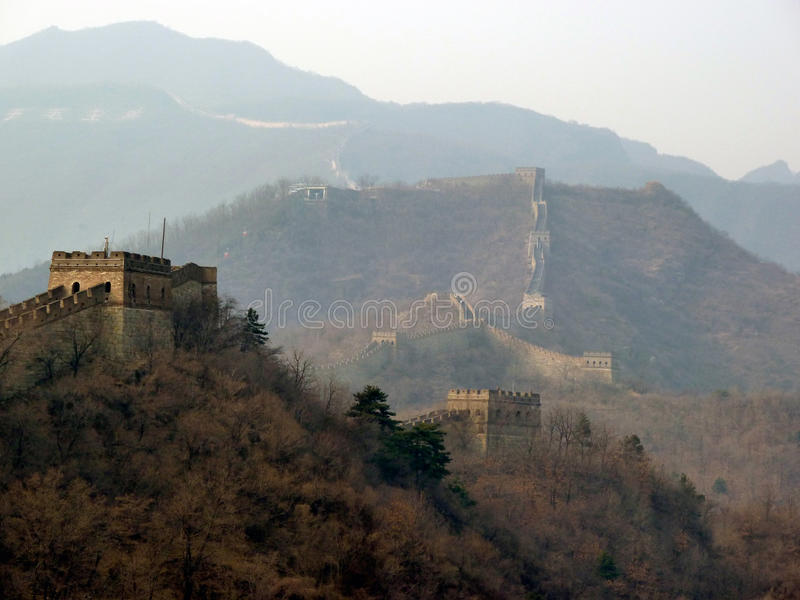 The Great Wall of China. Local area Mutianyu on the Great Wall of China royalty free stock photos