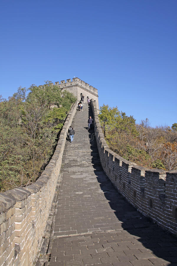 Great Wall of China. Mutianyu. Mutianyu (Chinese: 慕田峪; pinyin: Mùtiányù) is a section of the Great Wall of China located in Huairou stock images