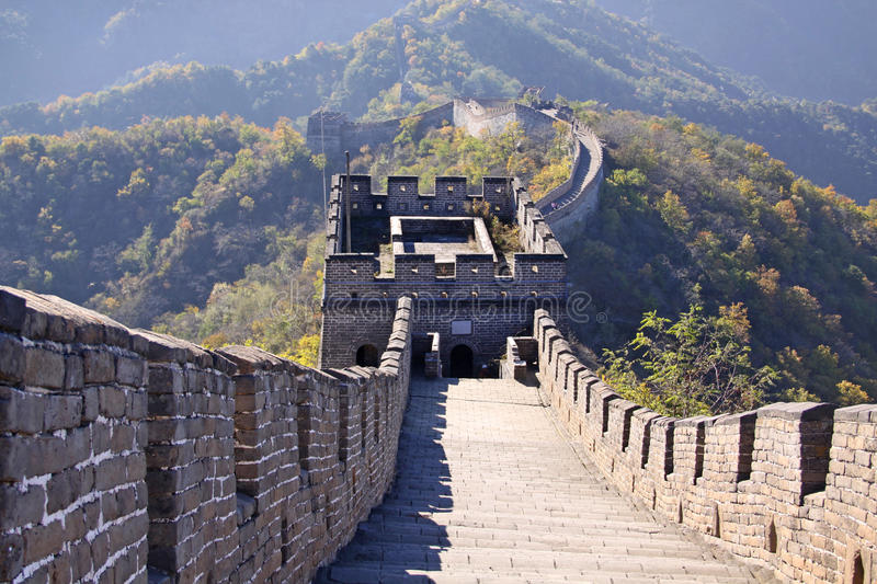 Great Wall of China. Mutianyu. royalty free stock image