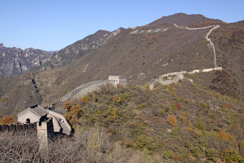 Great Wall of China. Mutianyu. Mutianyu (Chinese: 慕田峪; pinyin: Mùtiányù) is a section of the Great Wall of China located in Huairou stock photos