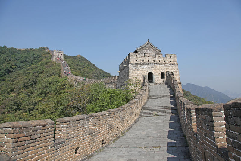 Great Wall of China. Mutianyu. Mutianyu (Chinese: 慕田峪; pinyin: Mùtiányù) is a section of the Great Wall of China located in Huairou royalty free stock images
