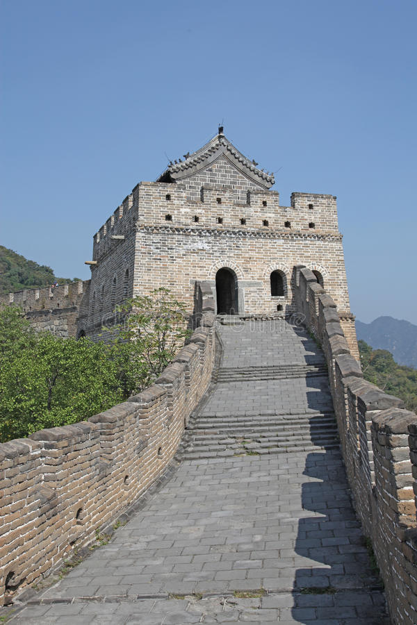 Great Wall of China. Mutianyu. Mutianyu (Chinese: 慕田峪; pinyin: Mùtiányù) is a section of the Great Wall of China located in Huairou royalty free stock photo