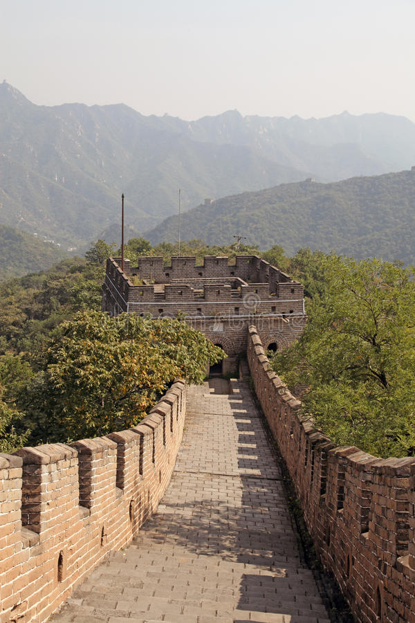 Great Wall of China. Mutianyu. Mutianyu (Chinese: 慕田峪; pinyin: Mùtiányù) is a section of the Great Wall of China located in Huairou royalty free stock photos