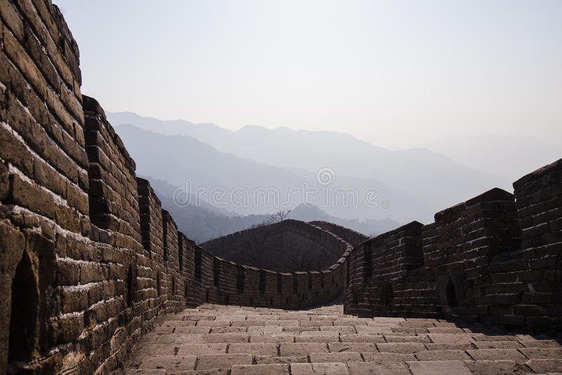 The Great Wall of China, Mutianyu section.  stock photo
