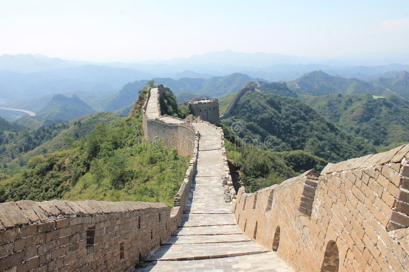 Great Wall of China Unesco heritage royalty free stock photos