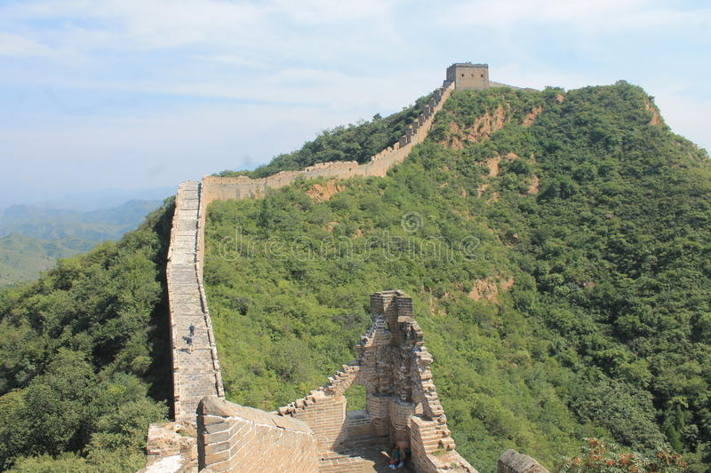 Great Wall of China Unesco heritage royalty free stock photo