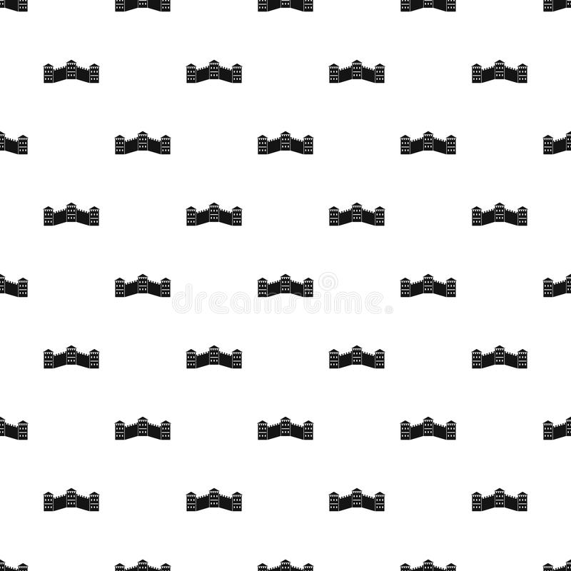 Great Wall of China pattern vector stock illustration