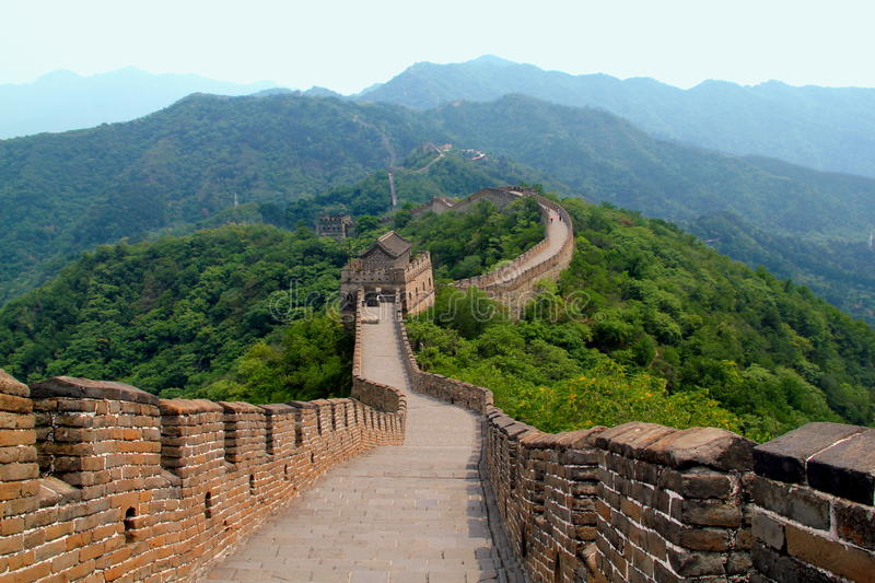 Great Wall of China Scene stock images