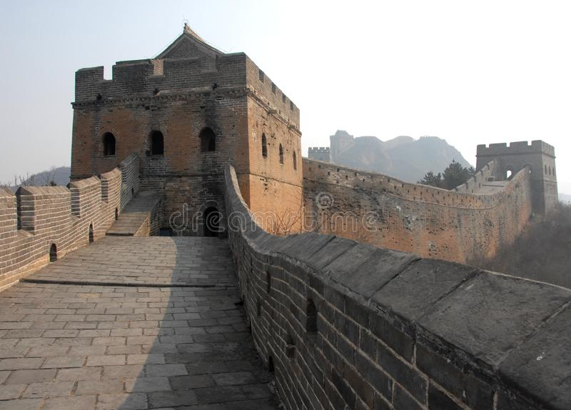 The Great Wall of China. This section of the Great Wall is at Jinshanling near Beijing. royalty free stock images