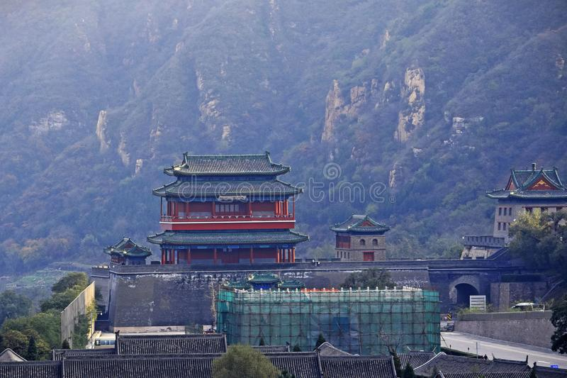 Great Wall of China. The Great Wall of China is a series of fortifications made of stone, brick, tamped earth, wood, and other materials, generally built along royalty free stock photography