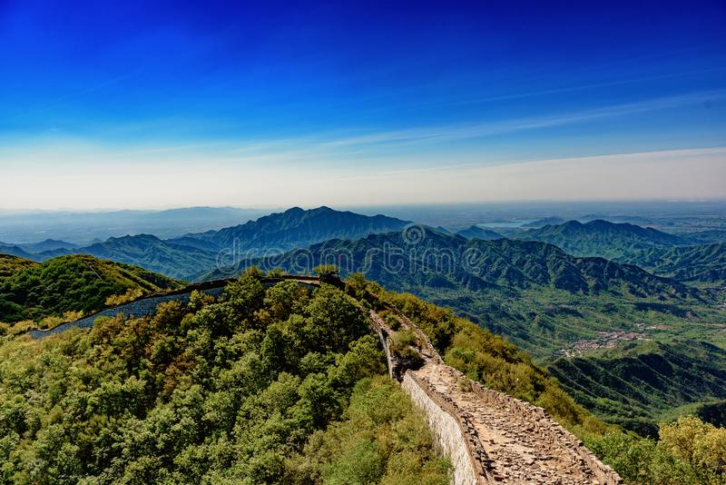 A Bright Morning at the Great Wall royalty free stock photography