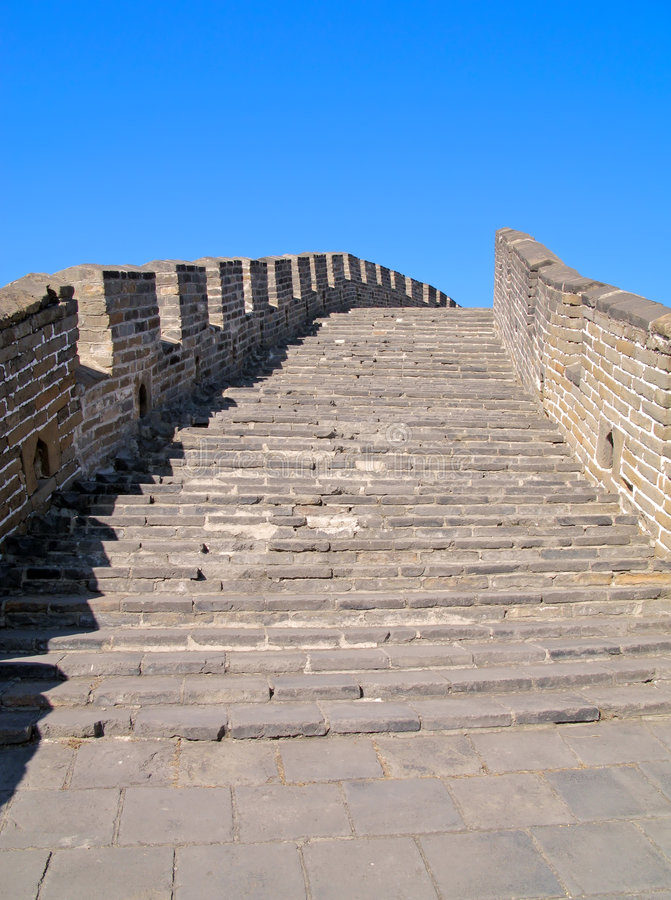 Great Wall of China Staircase royalty free stock image