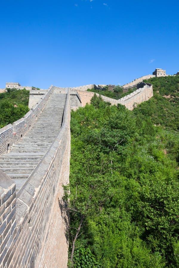 Great Wall Of China At Sunny Day Royalty Free Stock Photo