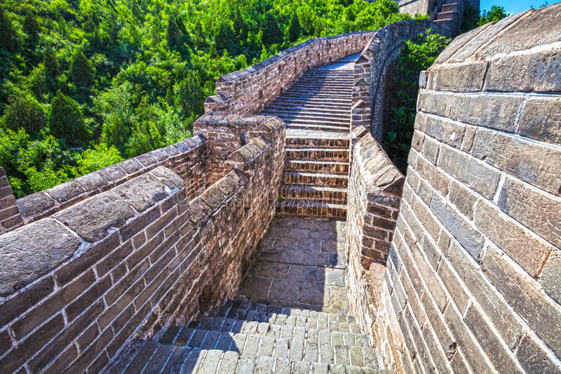 Download Great Wall Of China At Sunny Day Stock Photo - Image of famous, tourism: 26486736