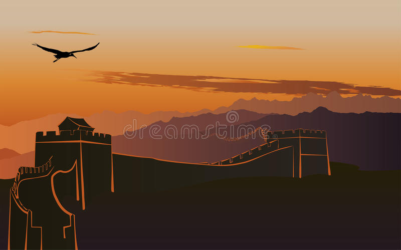 The Great Wall of China vector illustration