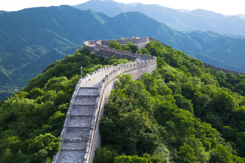 Great wall detail royalty free stock photos