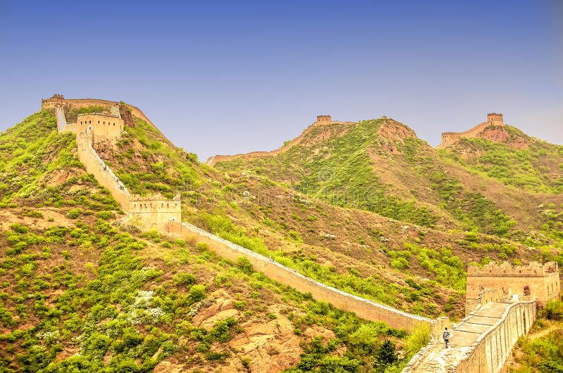 Great wall by jinshanling in China stock images