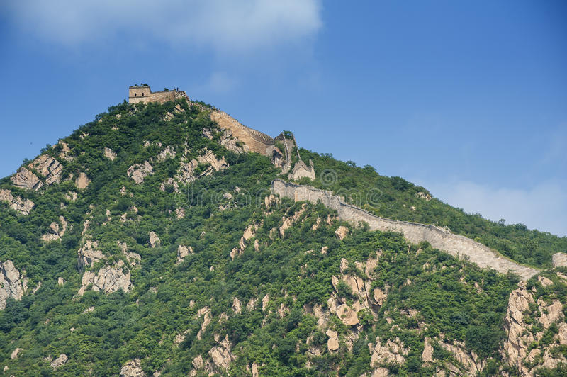 Great Wall On The Mountain Stock Photo