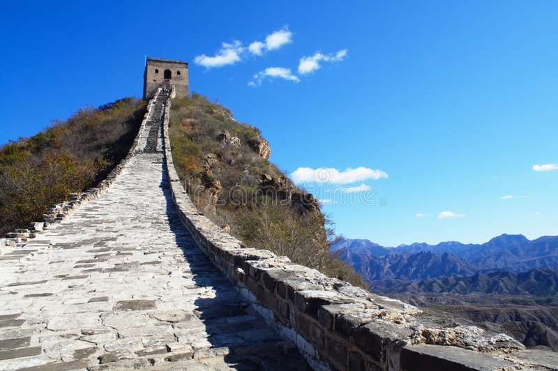 Great Wall Running In The Sky Stock Image