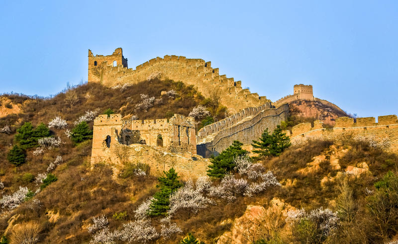 The Great Wall scenery royalty free stock photos
