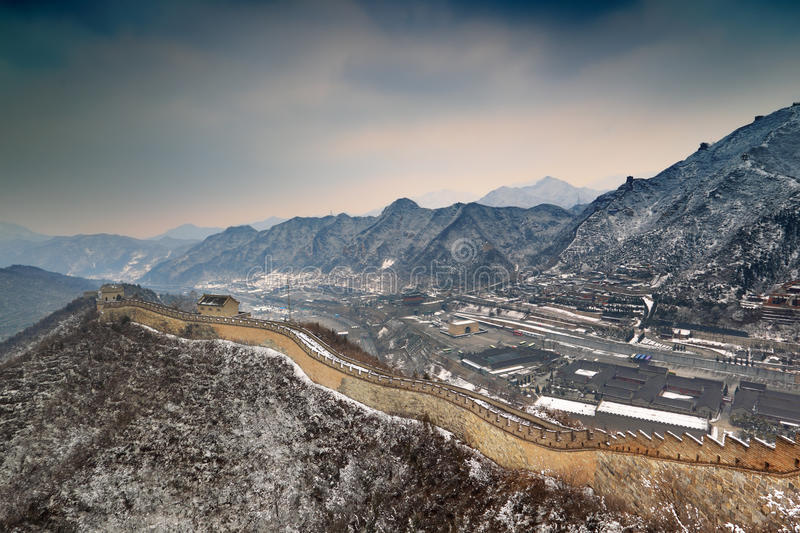 Download Great wall in snow stock image. Image of clear, blue - 23942419