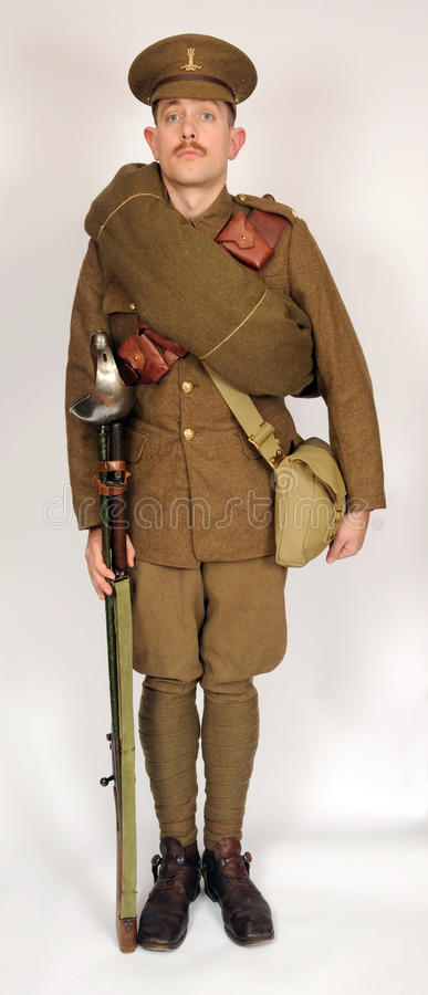 Great War cavalry soldier 1914 royalty free stock photos