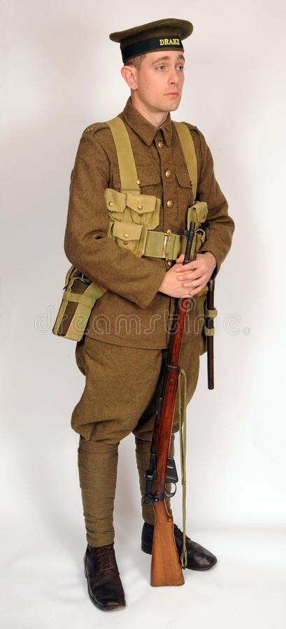 Great War Royal Naval Division soldier stock photography
