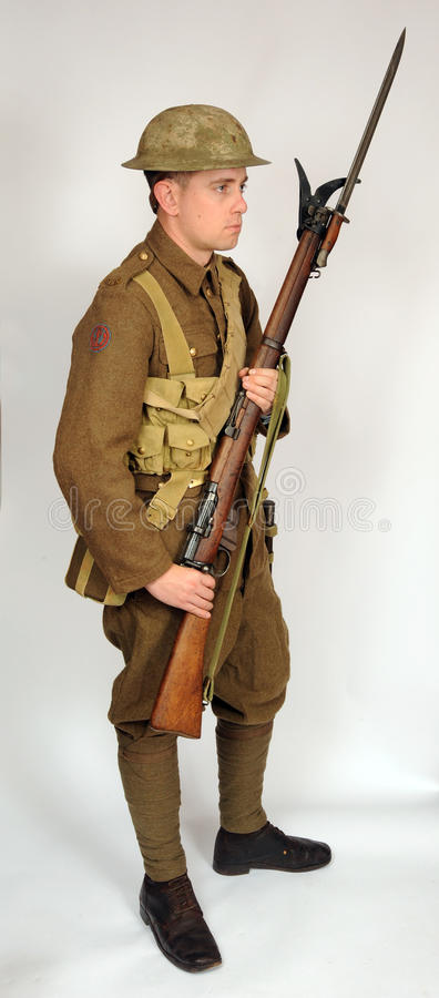 Great War Royal Naval Division soldier royalty free stock photography