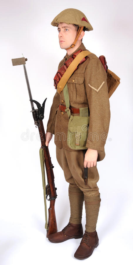 Great War soldier equipment royalty free stock images