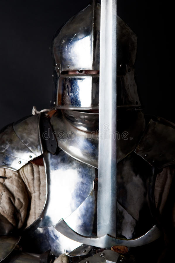 Download Great Warrior With Sword And Heavy Armour Stock Images - Image: 11977894