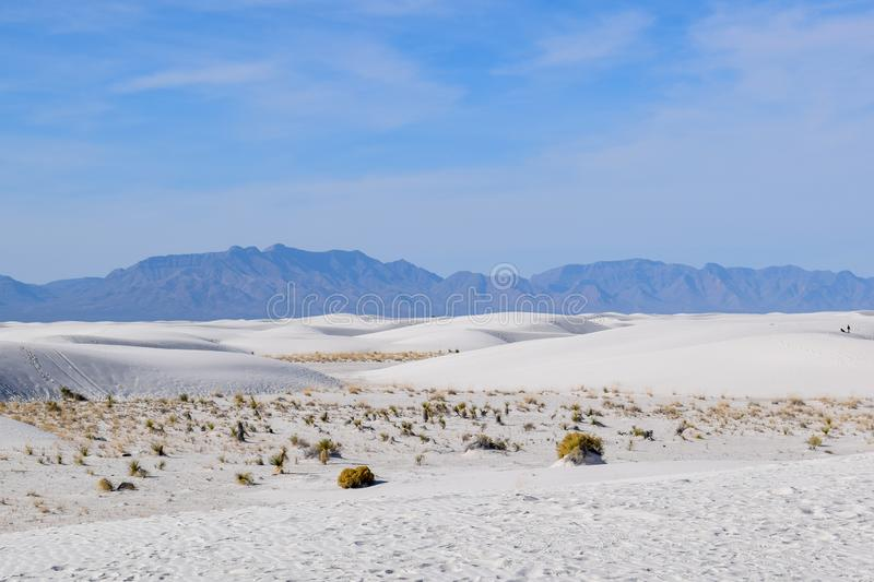 Amazing White Sands Desert in New Mexico, USA stock images