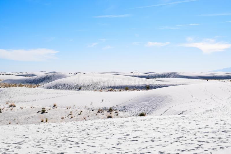 Amazing White Sands Desert in New Mexico, USA stock photos