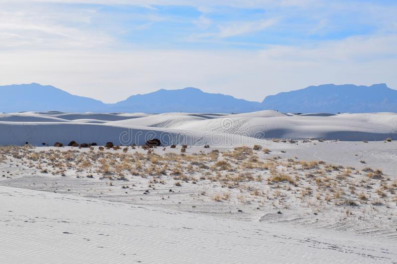 Amazing White Sands Desert in New Mexico, USA stock photo