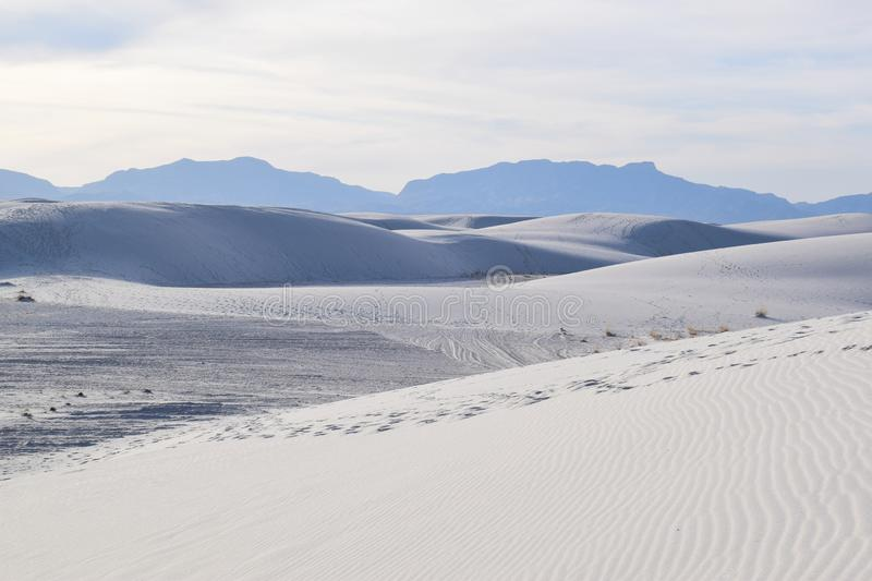 Amazing White Sands Desert in New Mexico, USA stock image
