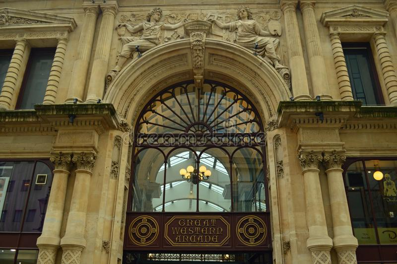 Great Western拱廊维多利亚时代建筑伯明翰 免版税库存图片
