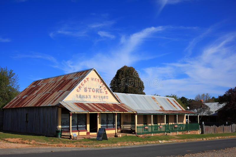 Great Western Store historic building in Australia royalty free stock photography