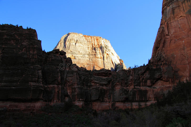 Great White Throne. Zion National Park in the State of Utah royalty free stock images