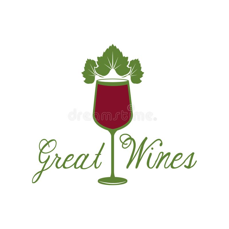 Great wines glassware leaves image poster. Vector illustration eps 10 vector illustration