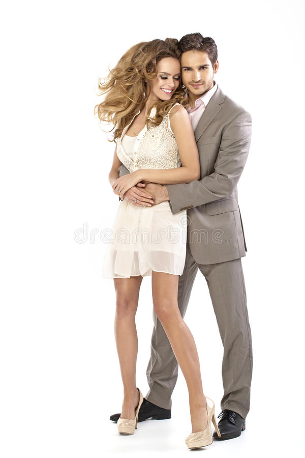 Great woman with her handsome husband royalty free stock image