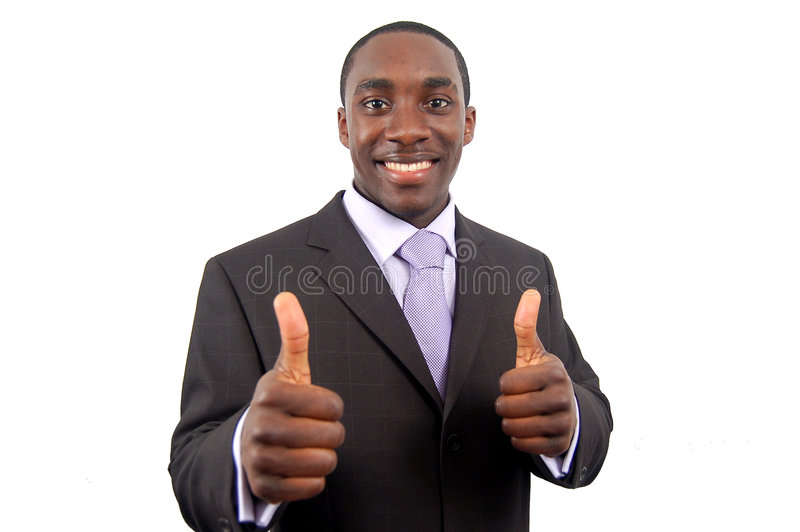 Great Work 3. This is an image of business, happily giving the thumbs up. This represents great work, you got the job and your the best. (Please let me know royalty free stock image